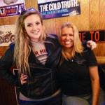Ohio State Paranormal Society's Director, Tami Beckel, with Moriah Diglaw at a team meeting at the Old Timers Bar & Grill in Massillon, Ohio.