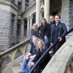 Ohio State Paranormal Society at the Ohio State Reformatory in Mansfield, Ohio in May, 2014 (Back Row From Left to Right: Sherry Morgan, Julie Starrett, Tami Beckel and Amy Cole. Seated in Front: Patrick Starrett and Bobbi Licitri)